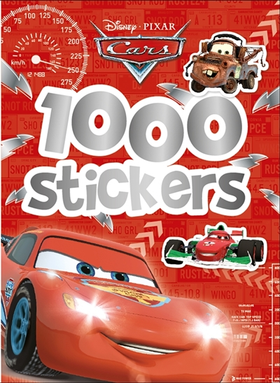Pixar animation studios - CARS, 1000 STICKERS